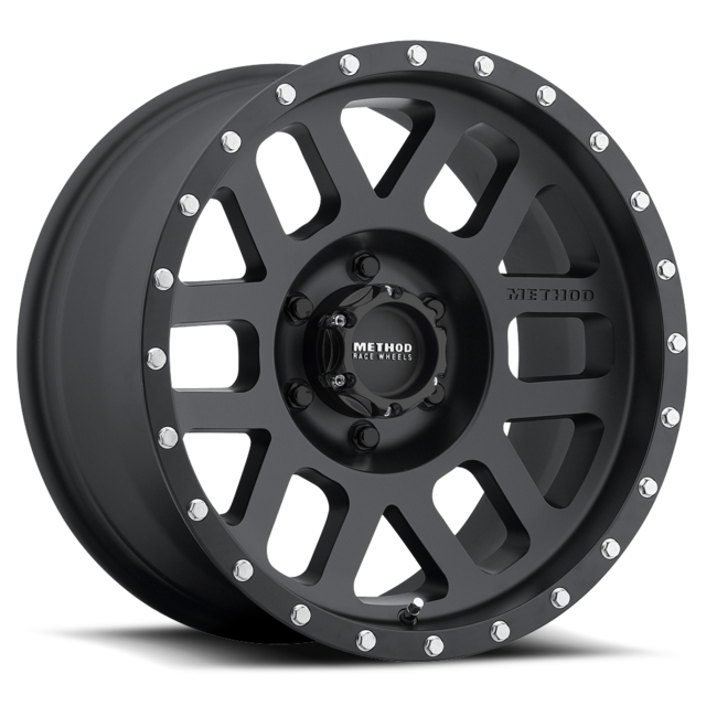 Wheel, Method Mesh - 20x9 +18mm, 6x5.5 Matte Black Finish