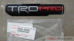 17+ Tacoma, LH Side TRD Pro Badge **Limited Quantities Available**