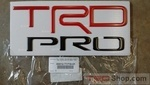 Toyota Tundra TRD PRO Bed Side Stamp Inserts