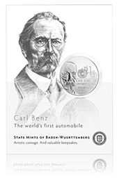 Carl Benz And Gottlieb Daimler Collector's Coin