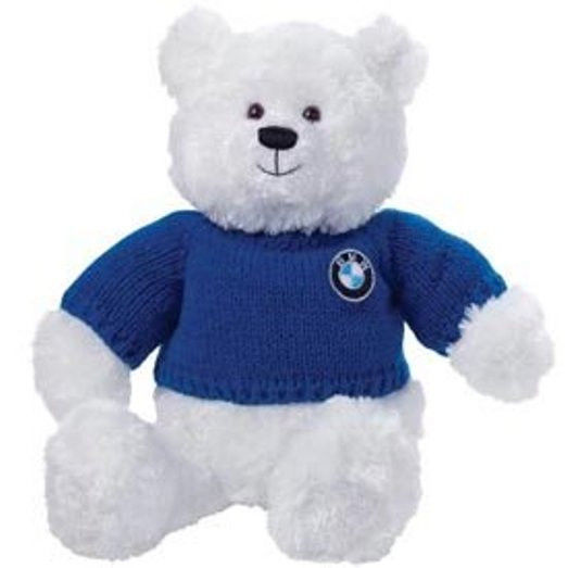Bmw White Plush Bear 809045