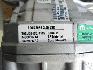 230MM 3.09 SRT Differential