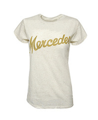 Women's Gold Glitter Script T-Shirt