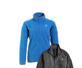 Women's Blue Sweater Knit Fleece