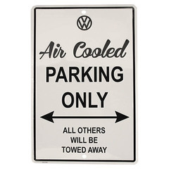 Air Cooled VW Parking Only Garage Sign