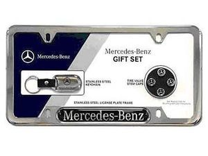 OEM GENUINE MERCEDES BENZ 3 PIECE LICENSE PLATE GIFT SET