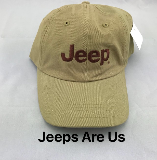 Jeep Logo Tan Cap