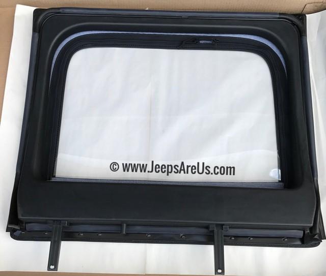JEEP WRANGLER REAR UPPER DOOR WINDOWS BLACK SET 2