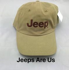 Jeep Logo Tan Cap
