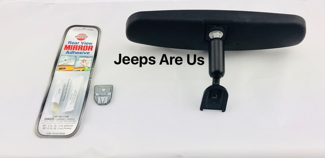 Rear View Mirror Kit; 76-12 Jeep CJ/Cherokee/Wrangler XJ/YJ/TJ/JK - Rugged Ridge