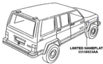 LIMITED NAMEPLATE, CHROME - MOPAR (55156023AA)