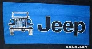 Jeep Towel 2 Go - Blue Beach and Seat Towel