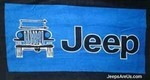 Jeep Towel 2 Go - Blue Beach and Seat Towel