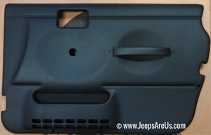 Jeep Wrangler TJ Full Door Panel Set Black/Slate Gray