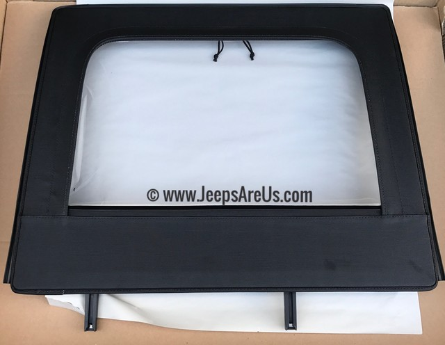 JEEP WRANGLER REAR UPPER DOOR WINDOWS BLACK SET 2