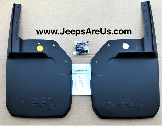 JEEP WRANGLER FRONT DELUXE MOLDED SPLASH GUARDS SET 2