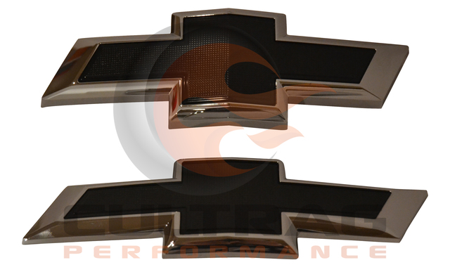 2016-2019 Chevrolet Camaro Front & Rear Black Bowtie Emblems