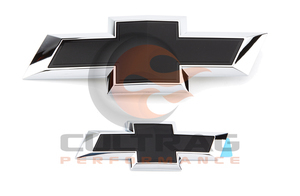 2015-2019 Tahoe Suburban Genuine GM Front & Rear Black Bowtie Emblems