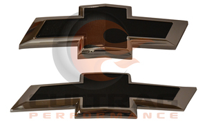 2016-2019 Chevrolet Camaro Front & Rear Black Bowtie Emblems