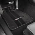 2016 2017 Chevrolet Camaro Front & Rear Floor Mats Gray Binding With Camaro Logo