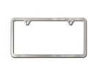 License Plate Frame (Brushed Stainless Steel)