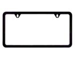 License Plate Frame (Black Stainless Steel)