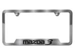 License Plate Frame (Brushed W/ MAZDA3 Logo)