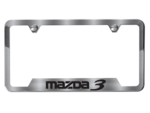 License Plate Frame (Brushed W/ MAZDA3 Logo)