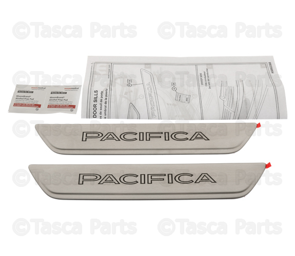 Mopar 82214548AC Chrysler Pacifica Brushed Stainless Steel Door Sill Guards