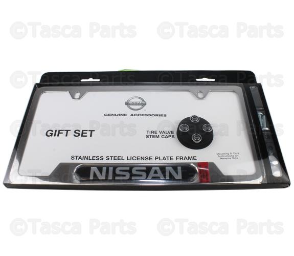 License Plate Frame & Valve Stem Caps - Nissan (999MB-SX001) | Tasca ...