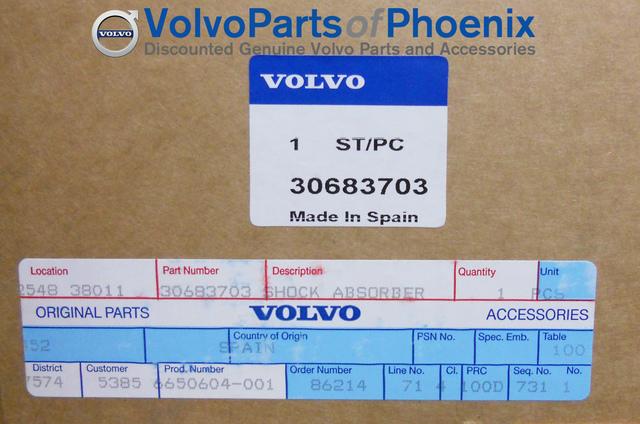 S60R V70R Front Suspension Strut