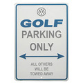 Golf Parking Only Sign