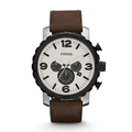 Fossil® Rugged Leather Watch