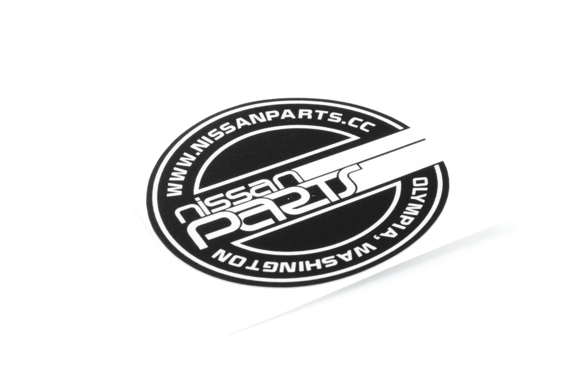 NISSANPARTS.CC SMALL ROUND DECAL