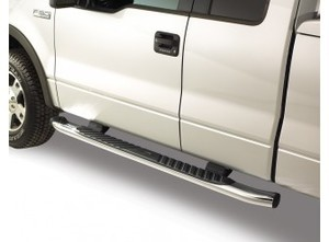 Ford OEM Step Bars - 5 Inch Chromed Aluminum, Reg. Cab