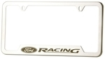 LICENSE PLATE FRAME BRUSHED FORD RACING (SINGLE)