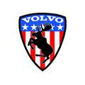 volvo swedish flag prancing moose sticker