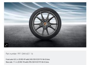 20-Inch Carrera S Winter Wheel-And-Tire Set