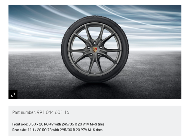 20-Inch Carrera S Winter Wheel-And-Tire Set