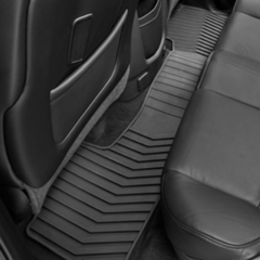 2015-16 SILVERADO ALL-WEATHER REAR MAT PKG- DOUBLE CAB- BLACK