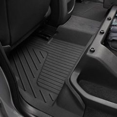 2015-16 COLORADO ALL-WEATHER REAR MAT PKG- EXTENDED CAB- BLACK