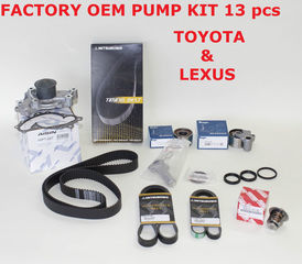 Genuine Factory Timing Belt Kit with OEM Aisin Water Pump for 1MZFE Engine