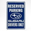 Subaru Reserved Parking Sign