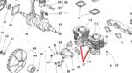 Subaru 360 Sedan Pair of Cylinder Paper Gaskets