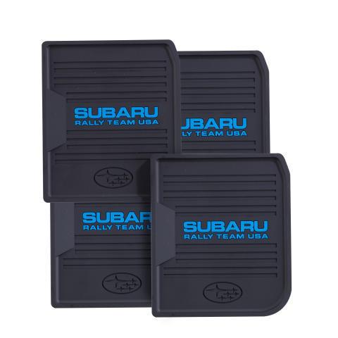 Subaru Rally Team Floor Mat Coaster Set - 4 Pack