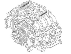 Porsche Cayman Engine complete (Exchange)