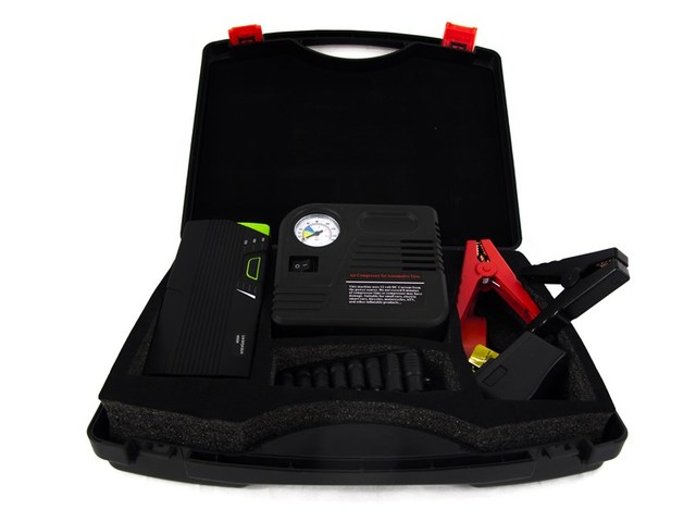 16,800mAh Jump Pack w/ Air Compressor Kit in Hard Case