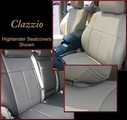 Clazzio Perforated Leather Seat Covers 7 PSGR WITH FRONT POWER SEAT, SR5