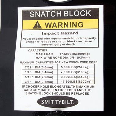 17,600 lb Snatch Block