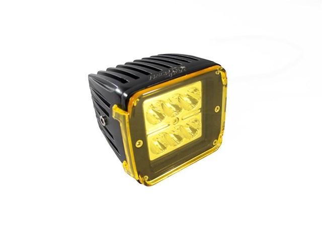 3x4 24W 6 LED CREE Cube Spot Light w/ Amber Cover